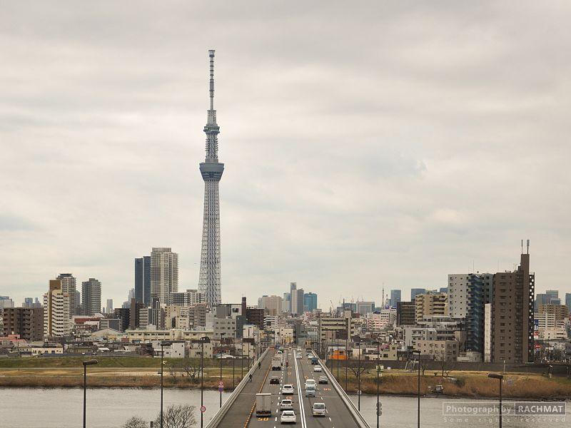 Tokyo Sky Tree from the bridge