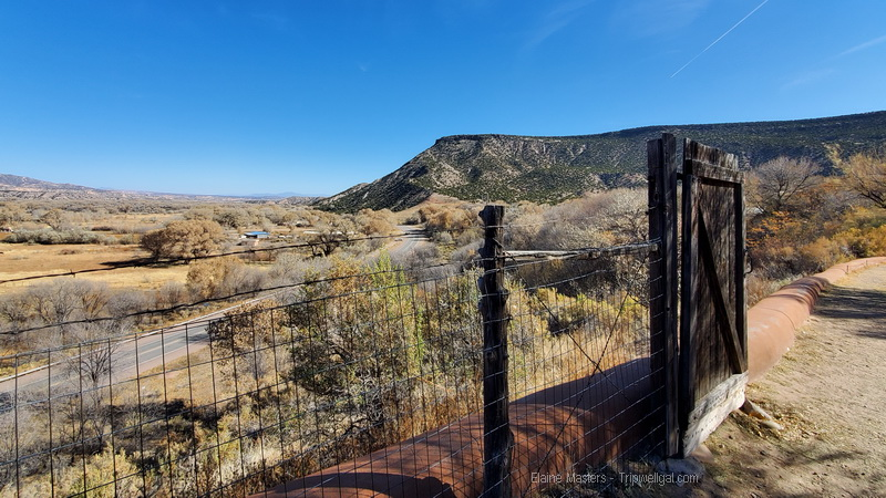 View from O'Keefe's bedroom window at Abiquiu